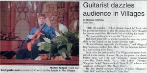Jeff Scott Villages concert review